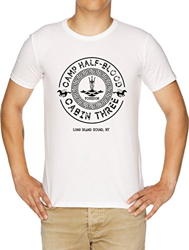 Percy Jackson - Camp Half-Blood - Cabin Three - Poseidon T-Shirt Uomo Bianco