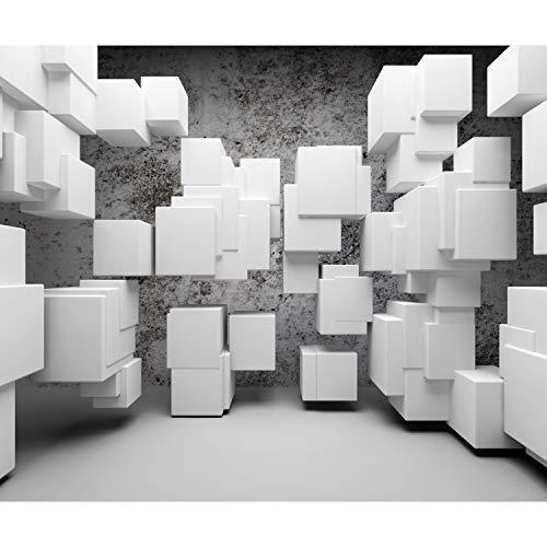 decomonkey Fototapete 3d Effekt 400x280 cm XL Tapete Fototapeten Vlies Tapeten Vliestapete Wandtapete moderne Wandbild Wand Schlafzimmer Wohnzimmer Steinwand Modern