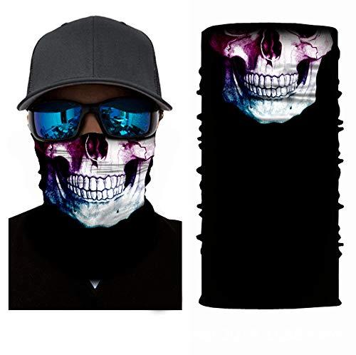brishow skull face shield halloween