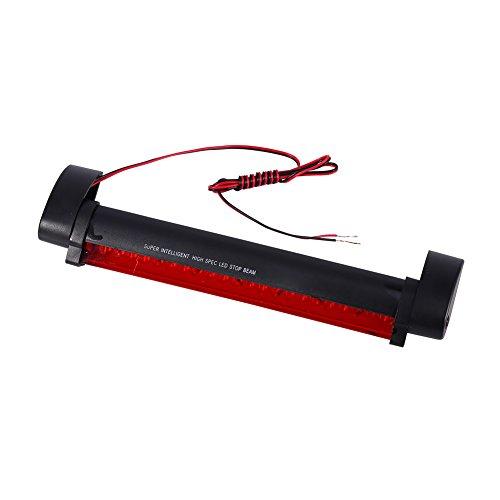 Qiilu Feux Arrière De Frein 1 x Rouge 24 LED Véhicule Voiture Arrêt Automatique Queue Avertissement Feu Stop Lumière Lampe 12 V