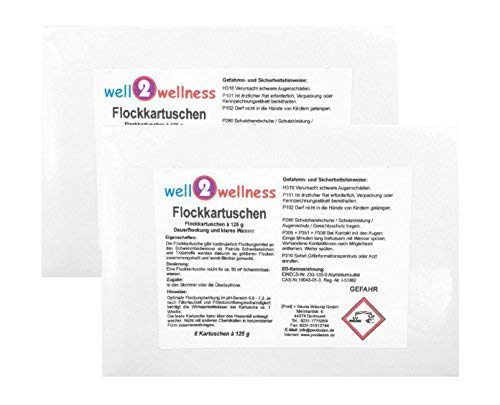 well2wellness Flockkartuschen/Flockungsmittel Kartuschen 2,0 kg (16 x 125 g)
