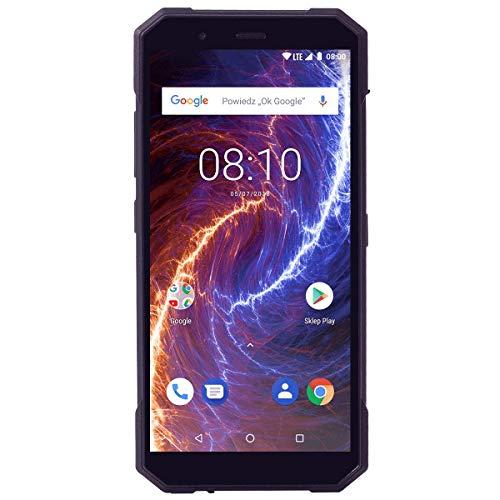 HAMMER Energy 18x9 Schwarz Outdoor Handy Ohne Vertrag Robustes Smartphone, Wasserdicht, 5.7 Zoll, 4G LTE Gorilla Glass 3, 5000mAh, 13Mpx, Quad-core, 3GB+32GB Memory, Express-Aufladung, Dual SIM, NFC
