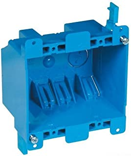 Carlon B225R-UPC Switch/Outlet Box, Old Work, 2 Gang, Blue 3 Pack