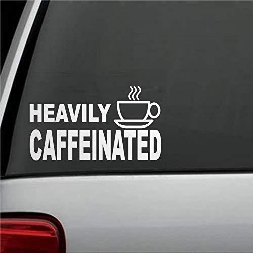 DONL9BAUER Zwaar Cafeïnevrije Koffie Cup Autoraam Decal Sticker Bumper Sticker voor Auto Vrachtwagen Laptop SUV Van Muur