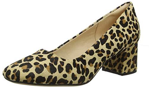 Clarks Damen Sheer Rose Pumps, Mehrfarbig (Leopard Print), 37 EU
