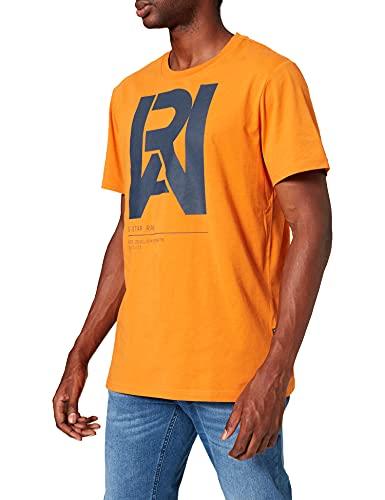 G-STAR RAW D19893 Camiseta, Ámbar 336-3046, L para Hombre