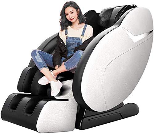 SISHUINIANHUA Sillón de Masaje eléctrico de Cuerpo Completo de múltiples Funciones Cápsula Espacial Sofá de Masaje de amasamiento Calefacción vibración Profesional Relax Sillón con 3D Surround Sound