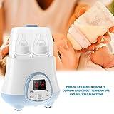 Elektrische Babyflaschenwärmer Desinfektionsgerät Automatische Säuglingswarme Milchnahrung Multifunktionsgerät Fütterung Doppelflaschensterilisator