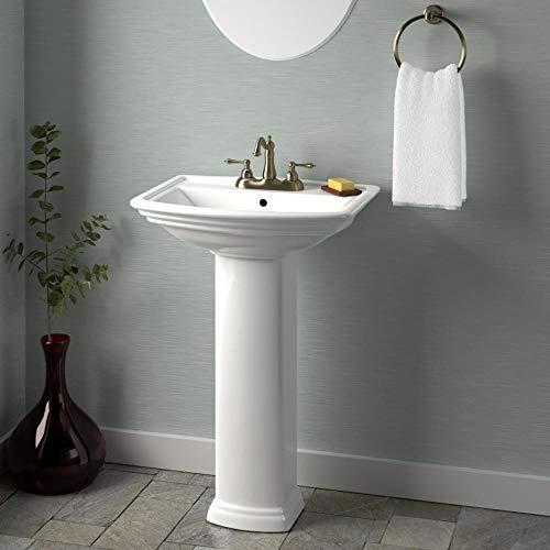 Magnus Home Products Waycross 200 Vitreous China Pedestal Bathroom Sink, 8