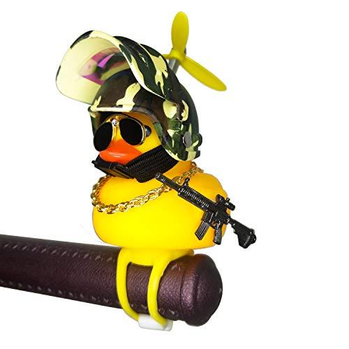 Shermosa Bocina de bicicleta infantil con diseño de pato, con casco y luz