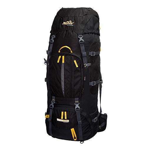 Tashev Trekkingrucksack Mount 100 Plus 20 Liter (Schwarz - Gelb)