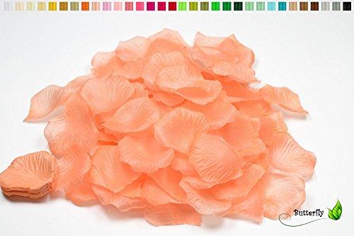Creativery 100 Stück Rosenblüten (apricot 714) // Rosenblätter Blütenblätter Streudeko Blüten Blätter Tischdecko Hochzeit Party