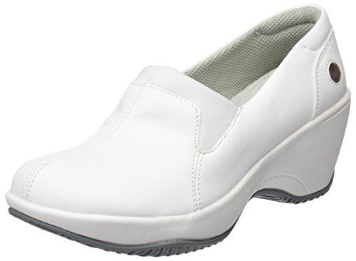 Suecos Stina, Zapatos de Trabajo para Mujer, Blanco (White), 37 EU