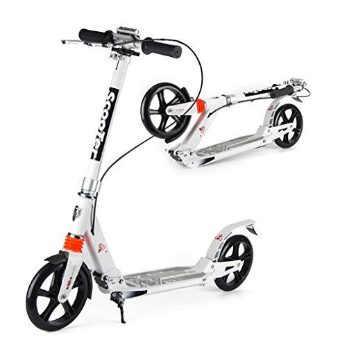Kick Scooter, Aluminium Scooter, Opvouwbare Volwassen Jeugd Twee wielen Scooter, 20CM Big Wheel Scooter, Dubbele Remmen Dubbele Schokabsorptie (niet-elektrisch)