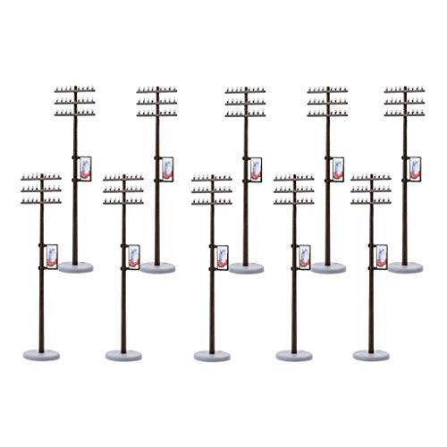 10PCS 1/87 Mini poste de línea eléctrica en miniatura para dioramas de...