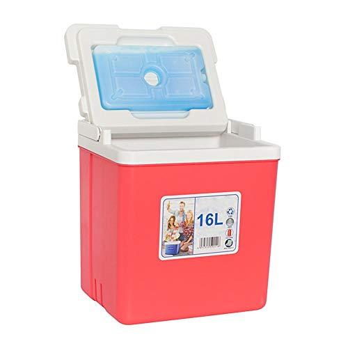 16L Autokühlbox, tragbarer Kühler Wärmer Autokühlschrank mit Griff, Minikühlschrank für Campingreisen, tragbarer Autoinkubator (ohne Strom)