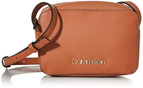 Calvin Klein Damen Ck Must Camerabag Umhängetasche, Braun (Cuoio), 18x12x7cm