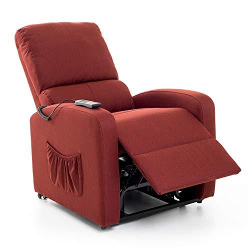 My_living M0638L-05 Fiorella Lift Relax - Sillón, Color Rojo