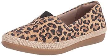 Clarks Women s Danelly Sky Loafer Flat Tan Leopard Suede 090 M US