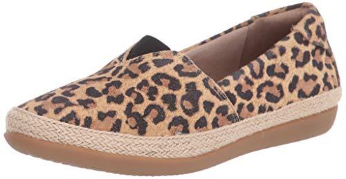 Clarks womens Danelly Sky Loafer Flat, Tan Leopard Suede, 5.5 US