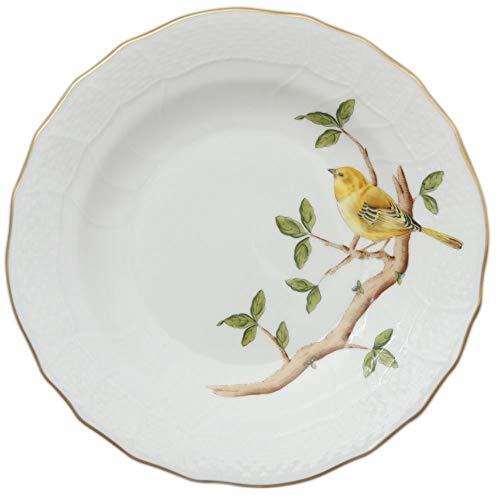 Herend Warbler Songbird Porcelain Desert Plate