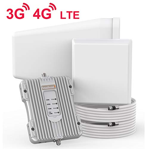 Amazboost Cell Phone Signal Booster Cover 5000 Square Foot for Home Office - 4G 3G LTE Data Cell Booster for Verizon, AT&T, T-Mobile, Sprint
