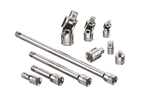 ARES 71270-10-Piece Socket Accessory Set - Premium Chrome Vanadium Steel with Mirror Finish -...