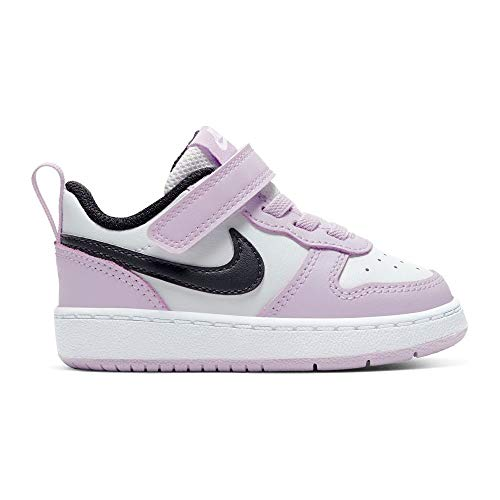 Nike Unisex-Child Court Borough Low 2 (TDV) Basketball Shoe, Photon Dust/Off Noir-Ice Lilac-White