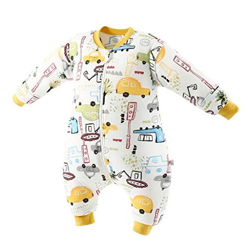 Saco de Dormir de Bebé con Piernas 3.5 Tog Invierno Bolsa de Dormir Algodón Desmontable Manga para Niños Niñas, 4-6 Años