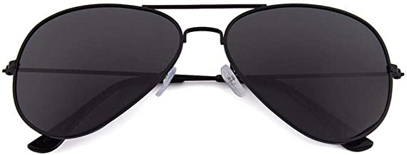 Unisex Aviator Polarized Sunglasses black metal frame
