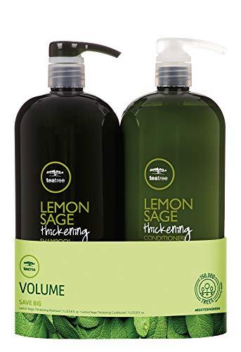 Tea Tree Lemon Sage Thickening Liter Duo Set
