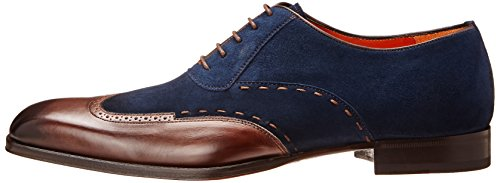 Mezlan Men's Ronda Oxford, Dark Brown/Navy, 8.5 M US
