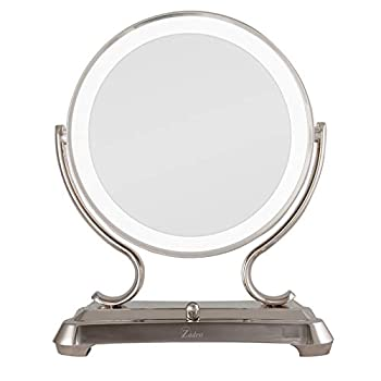 Zadro Polished Nickel Surround Light Dual Sided Glamour Vanity Mirror 5X / 1X Magnification