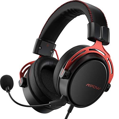 Mpow Air SE Cuffie Gaming 3,5 mm per PS4, PS5,Xbox One, PC, Switch Cuffie over-ear con audio surround con microfono con cancellazione del rumore, Cuffie da gioco