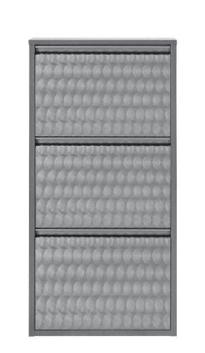 simple..*M* 4001070442369 Schuhklappschrank, 50 x 15 x 105 cm, metall, grau