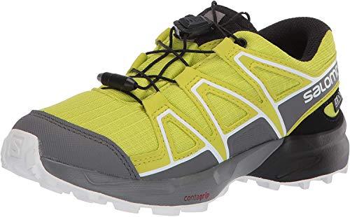 Salomon Kinder Trail Running Schuhe, SPEEDCROSS CSWP J, Farbe: grün (Evening Primrose/Quiet Shade/Black), Größe: EU 38