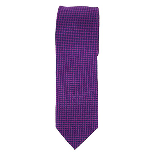 Cotton Park - Cravate 100% soie violette - Homme