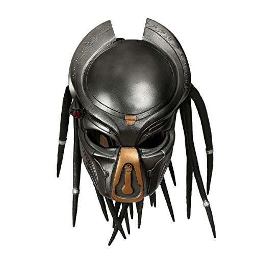 Pre-dator Mask with Dreads Hair Cosplay Costume Resin Masks for Adult Halloween Merchandise