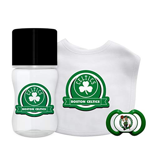 Baby Fanatic NBA Boston Celtics Unisex BCS3033-Piece Gift Set - Boston Celtics, See Description, See Description