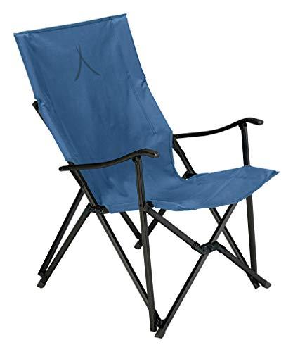 Grand Canyon EL Tovar - Chaise de Camping, Chaise Pliante avec accoudoirs - jusqu'à 100 kg - Aluminium - Bleu foncé (Bleu)