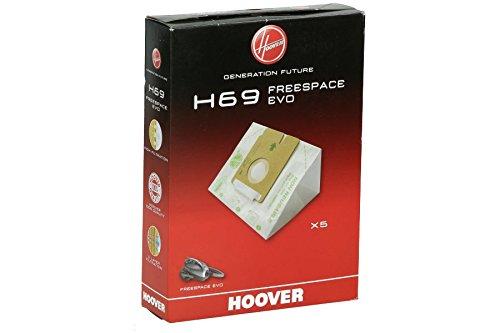 Hoover H69 H69-Hoover Bolsa aspiradora. Compatible con Freespace EVO. Incluye 5 uds, 2.3 litros, Papel