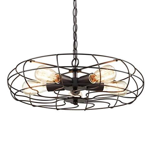 Dongyd elektrische plafondventilator, 5-licht led-plafondlamp, industrieel retro plafondlamp, strijkijzer, creativiteit voor woonkamer, slaapkamer, eetkamer, balkonlamp