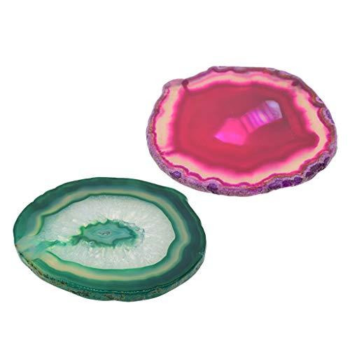F Fityle 2 Unidades Cristal de Cuarzo Decoración de Hogar para Arte y Decoración de Hogar Adornos Decoración de Mesas Posavasos