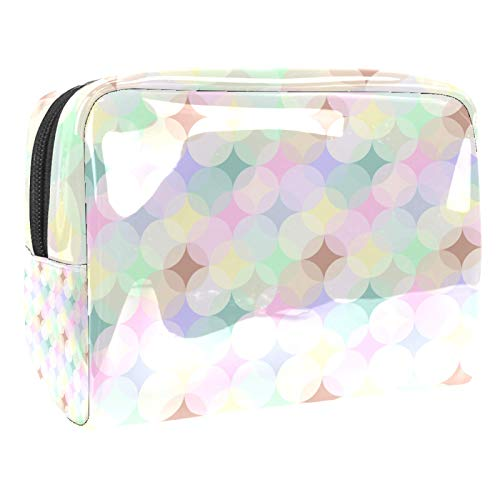 Makeup Cases Light colored aperture Travel Makeup Bag Waterproof Cosmetic Cases Organizer for Cosmetics Makeup Brushes Toiletry Jewelry 18.5x7.5x13cm