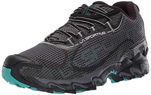 La Sportiva Wildcat 2.0 GTX Women's Running Shoe, Carbon/Aqua, 42