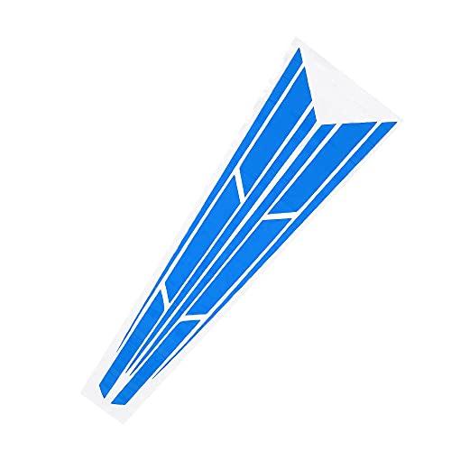X AUTOHAUX 32.28'x10.87' Coche Capó Raya Pegatina Decoración Azul 1 par