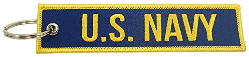Luso Aviation US Navy, Embroidered Key Chain
