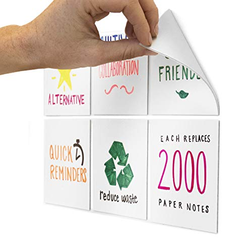 M.C. Squares Dry-Erase Sticky Notes (6 Pack, 4in x 4in)