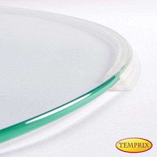 Temprix Silikondichtlippe & Schmutzdichtung für Kamin Bodenplatte & Funkenschutzplatte | Staubdichtlippe & Silikon Dichtlippe selbstklebend transparent für Kaminbodenplatte, Ofenplatte & Kaminplatte
