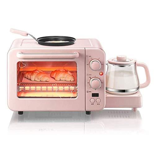 Bdesign Tostadora, máquina de desayuno, tostadora multifunción, máquina de calefacción de tostadas, horno eléctrico doméstico, sándwich, huevo frito, combinación de leche tibia, máquina de tres en uno